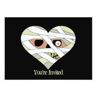 Cara do coração da mamã convite 12.7 x 17.78cm