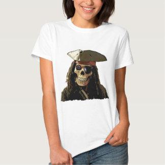 Cara do crânio de Posterized do pirata Camiseta