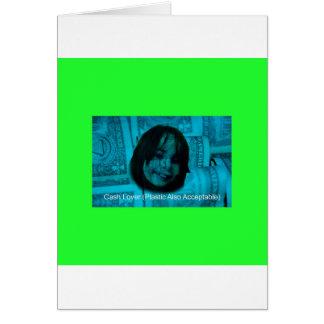 Cara do dinheiro do amante do dinheiro (plástico cartão