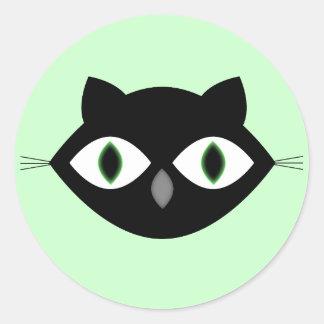 Cara do gato adesivo