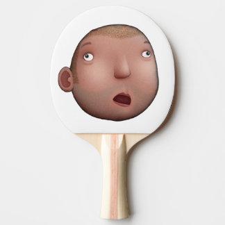 Cara do idiota raquete de ping pong
