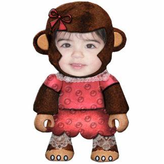 Cara do macaco - menina foto escultura
