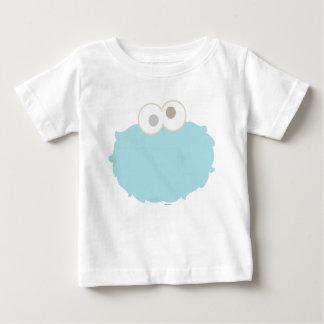 Cara do monstro do biscoito do bebê camiseta para bebê