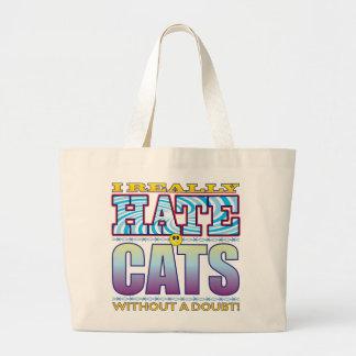 Cara do ódio dos gatos sacola tote jumbo