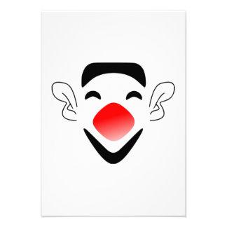 Cara do palhaço dos desenhos animados convite personalizado