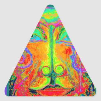 Cara do partido de Carnaval da fantasia por Adesivo Triangular