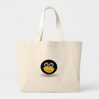 Cara do pinguim bolsas de lona