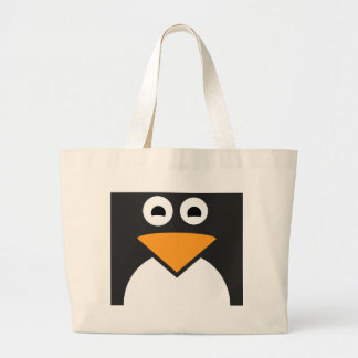 Cara do pinguim bolsa tote grande