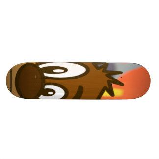Cara do urso de Brown Shape De Skate 18,4cm