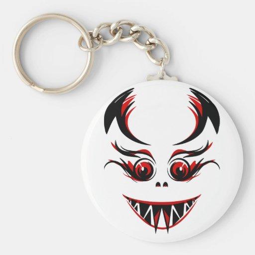 Cara do vampiro/monstro/demónio com presas afiadas chaveiros