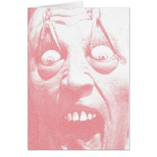 Cara do zombi do cartão do Dia das Bruxas