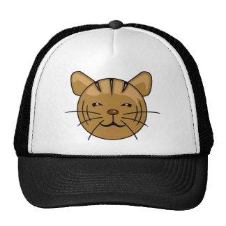 Cara dos desenhos animados do gato de casa bonés