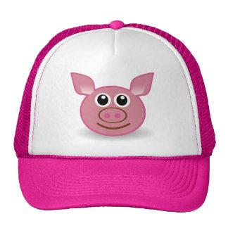 Cara dos desenhos animados do porco bone