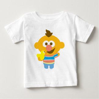 Cara e Duckie do bebê de Ernie Camiseta Para Bebê