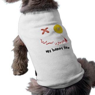 Cara engraçada feliz do Dia das Bruxas Camisetas Para Cães
