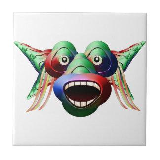 Cara engraçada futurista do caráter do monstro