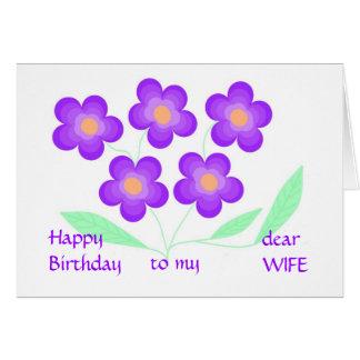 Cara esposa do feliz aniversario cartão comemorativo