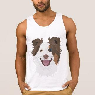 Cara feliz border collie dos cães da ilustração