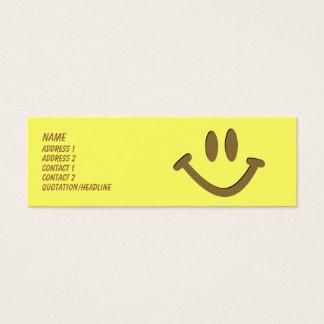 Cara feliz cartão de visitas mini