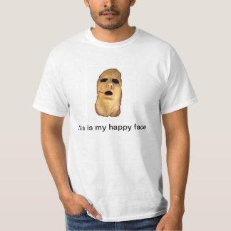 Cara feliz do horror do reino camiseta