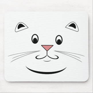 Cara feliz Mousepads do gato