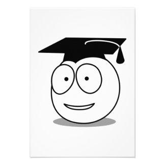 Cara graduada dos desenhos animados convites personalizado