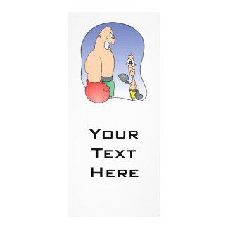 cara grande contra desenhos animados engraçados do panfletos informativos