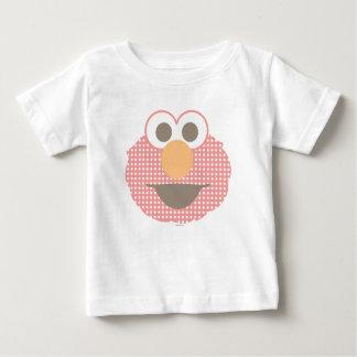 Cara grande de Elmo do bebê Camiseta Para Bebê