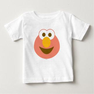 Cara grande do bebê de Elmo Camiseta Para Bebê