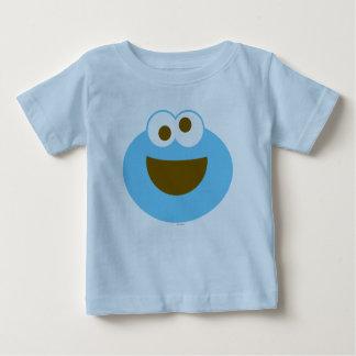 Cara grande do bebê do monstro do biscoito camiseta para bebê