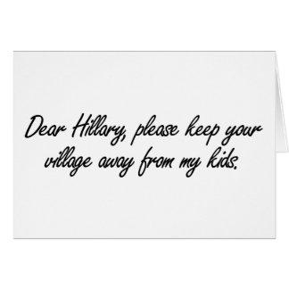 Cara Hillary, cartão