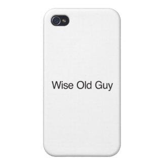 Cara idosa sábia iPhone 4 capas