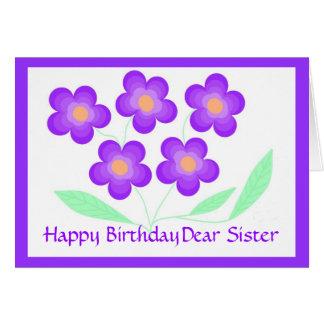 Cara irmã do feliz aniversario cartão comemorativo