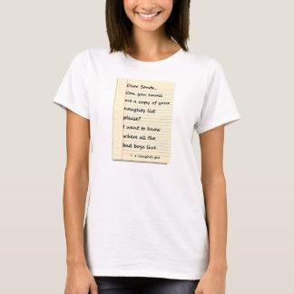 CARA LETRA do PAPAI NOEL de uma menina Camiseta