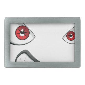 Cara má com olhos 2 do vermelho