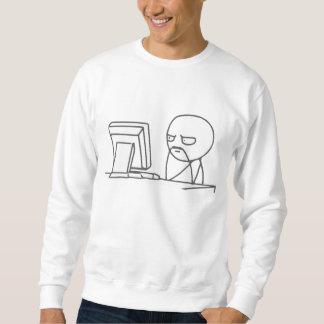 Cara Meme do computador - camisola Moleton