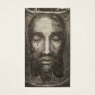 Cara santamente do cartão da devoção de Jesus