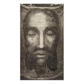 Cara santamente do cartão da devoção de Jesus Cartão De Visita