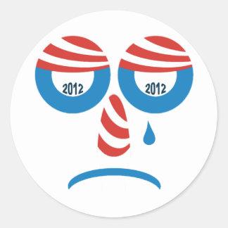 Cara triste de Obama 2012 Adesivos Redondos
