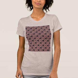 Caracóis e roxo malva das flores t-shirt
