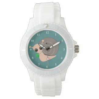 Caracol afortunado 1 - relógio branco desportivo