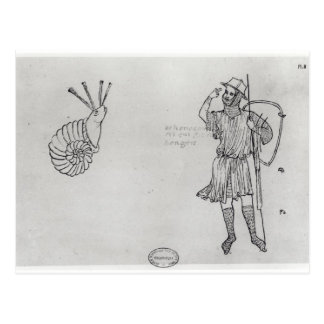 Caracol Fol.2 e soldado húngaro Cartão Postal