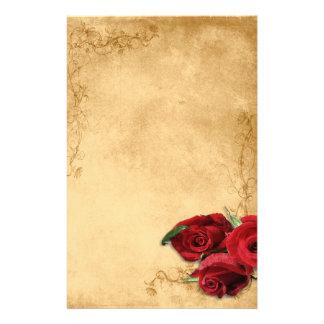 Caramelo Brown do vintage & casamento cor-de-rosa Papel Personalizados