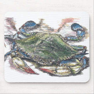 Caranguejo azul Mousepad