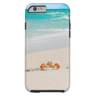 Caranguejo bonito em capas de telefone tropicais