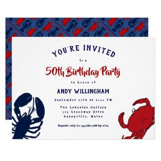 Caranguejo da lagosta seu convite de festas do