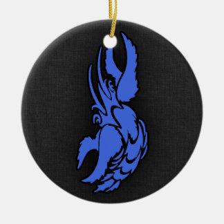 Caranguejo do cancer do zodíaco dos azuis marinhos enfeites para arvores de natal