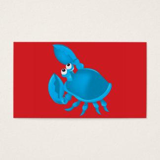 Caranguejo dos desenhos animados cartão de visitas