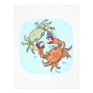 caranguejos de combate panfleto coloridos