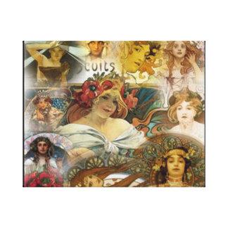 Caras Alphonse Mucha, canvas Impressão Em Tela